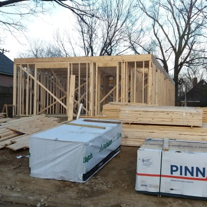 Great progress on framing the 1st floor.